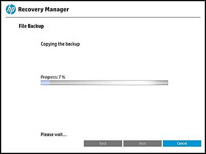Backup progress bar