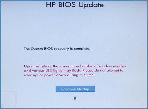 Программу для восстановления биоса на ноутбуке hp