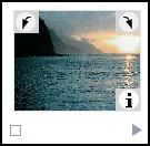 Thumbnail of photo showing rotation and information squares