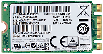 32 GB solid state drive
