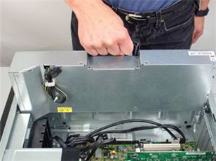 HP Z600 Workstation - Removing and Replacing the Power