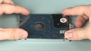 Aligning the hard drive bracket