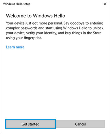 Getting started with Windows Hello