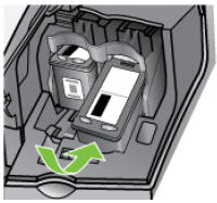 Illustration of reinstalling the cartridge