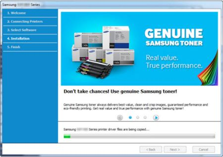 Image shows using Samsung genuine toner