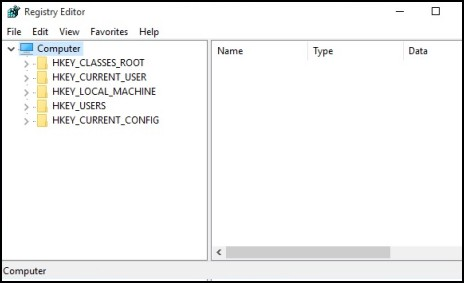 Image of Registry Editor