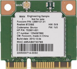 Image of the top of the WLAN card