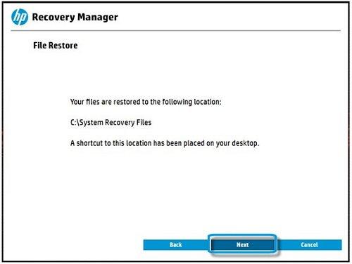 Как создать recovery hp