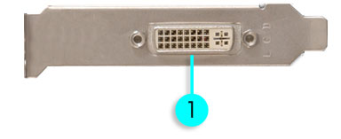 image of graphics card port