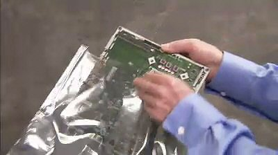 Storing the motherboard in an antistatic bag