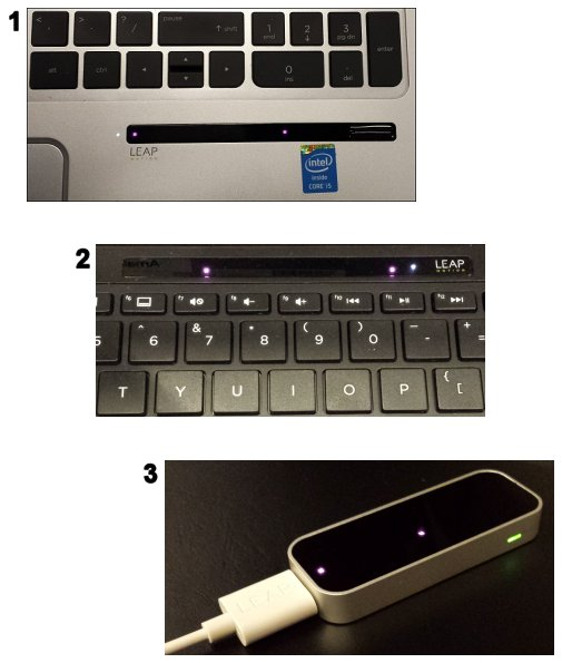 Examples of Leap Motion sensors