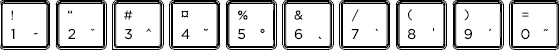 Polish keyboard top row detail