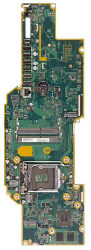 Kazon-2GF motherboard top view