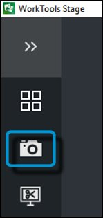 Camera icon to open Capture