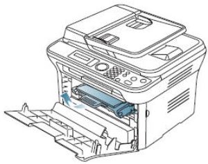 Image shows removing toner cartridge