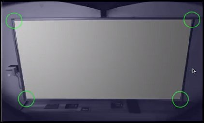 Detecting the size and shape of the whiteboard