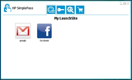 My LaunchSite showing registered websites accounts.