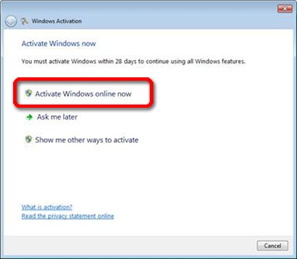 HP Notebook PCs - Windows 7 Product Activation | HP
