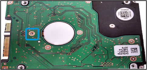 Example of an HDD with a missing screw