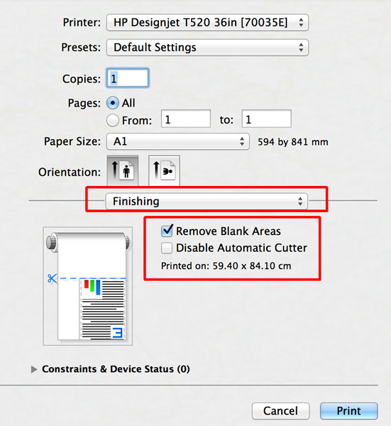 HP Designjet T120 and T520 ePrinter Series - Advanced print
