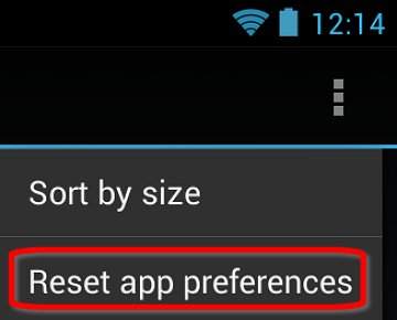 Reset app preferences