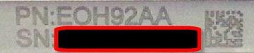 Tablet serial number