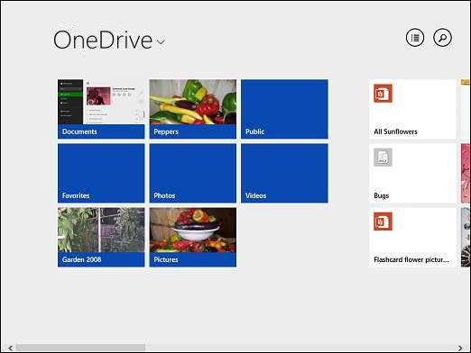 OneDrive home page