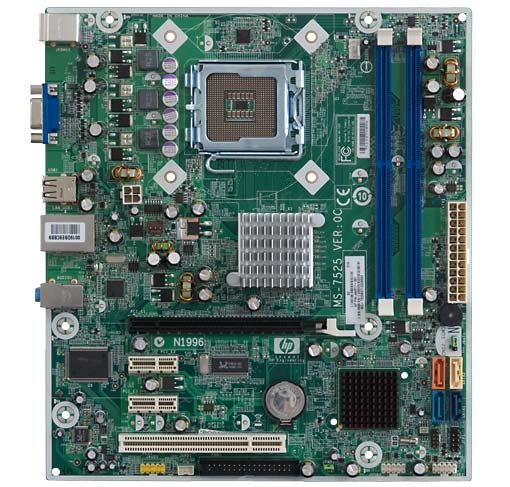 HP and Compaq Desktop PCs - Motherboard Specifications, MS-7525