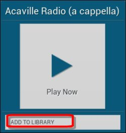 Radio station Add to Library