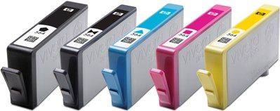 Photograph of HP 364 Ink Cartridges