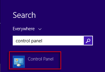 Search results for Control Panel