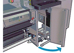 Image: The printhead cleaning assembly door