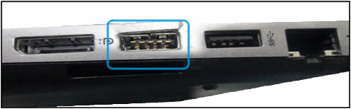 Example of USB port damage