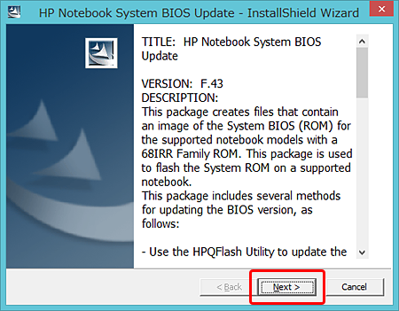HP Notebooks HPQFlash Driver Download