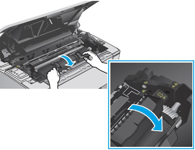 Unlocking the toner cartridge
