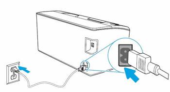 Conexión del cable de alimentación.