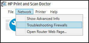 Clicar em Rede e Solucionar problemas de firewalls