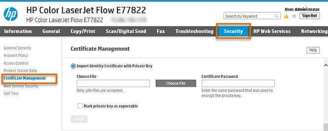 HP Enterprise MFP - Configure Scan to Office 365   HP