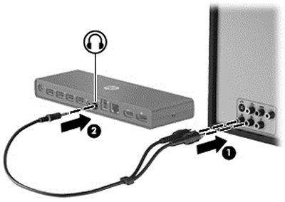 Image of connecting the audio devices.