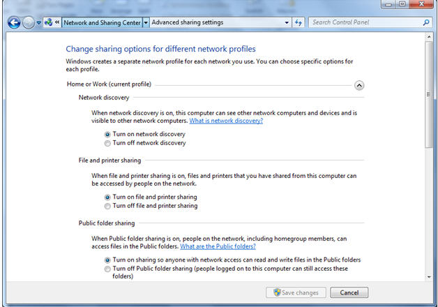 HP LaserJet Printers - Windows 7 Printer Sharing Within a Mixed
