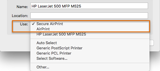 HP Printers - Setup the HP printer with AirPrint in macOS X