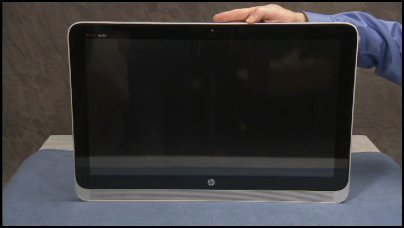 Touch panel with attached front bezel