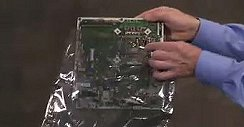 Placing the motherboard in an antistatic bag