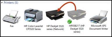 Cambiar el icono de color gris al icono de color para que sea la impresora predeterminada