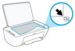 Alineación del papel sobre el cristal del escáner