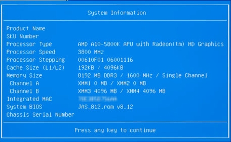 HP Desktop PCs - BIOS Settings for the Jasmine Motherboard | HP
