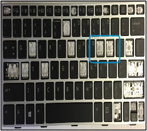 Example of keyboard damage