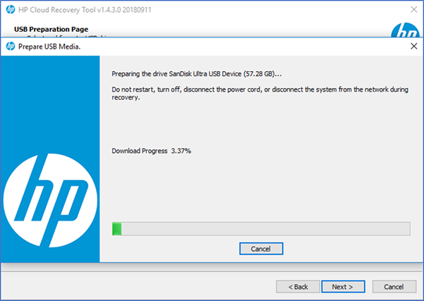 HP Consumer PCs - Using the HP Cloud Recovery Tool (Windows
