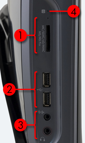 Image of the left I/O ports