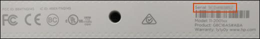Identificar el número de serie de HP